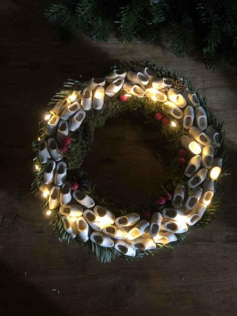 kerstkrans knutselklompjes