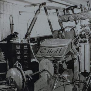 1975:de eerste stappen worden gezet voor het mechaniseren van klompenboormachines.